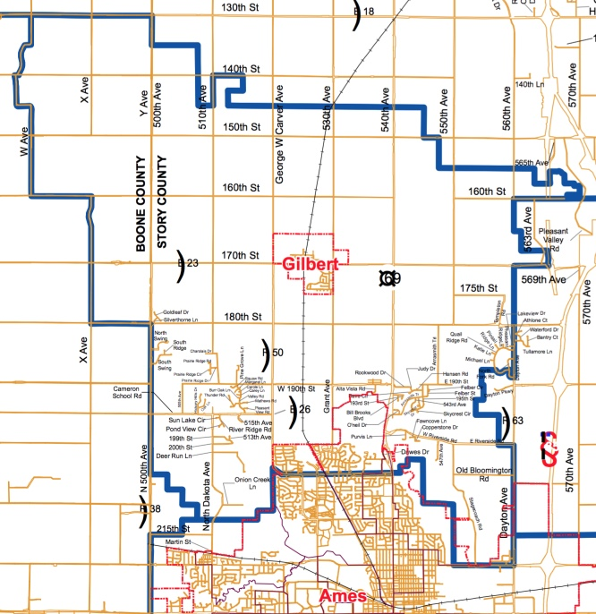 Boundary Map Gilbert Community School District